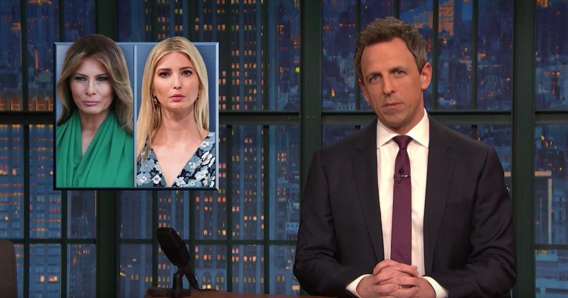 """Melania Trump is """"used to faking it,"""" jokes Seth Meyers"""