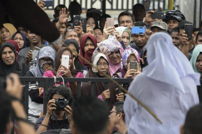 GettyImages-924818568 Indonesia Christian flogged