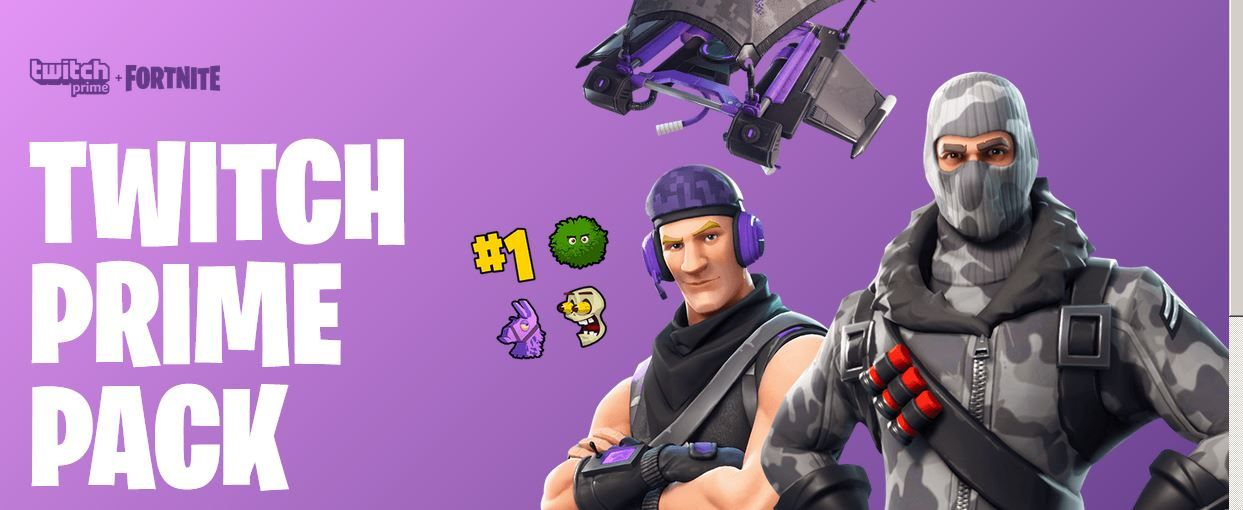 fortnite twitch prime gear - pack de twitch prime fortnite 2019