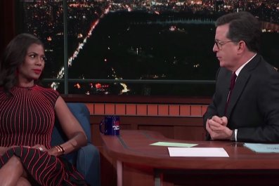 Omarosa talks Trump with Stephen Colbert