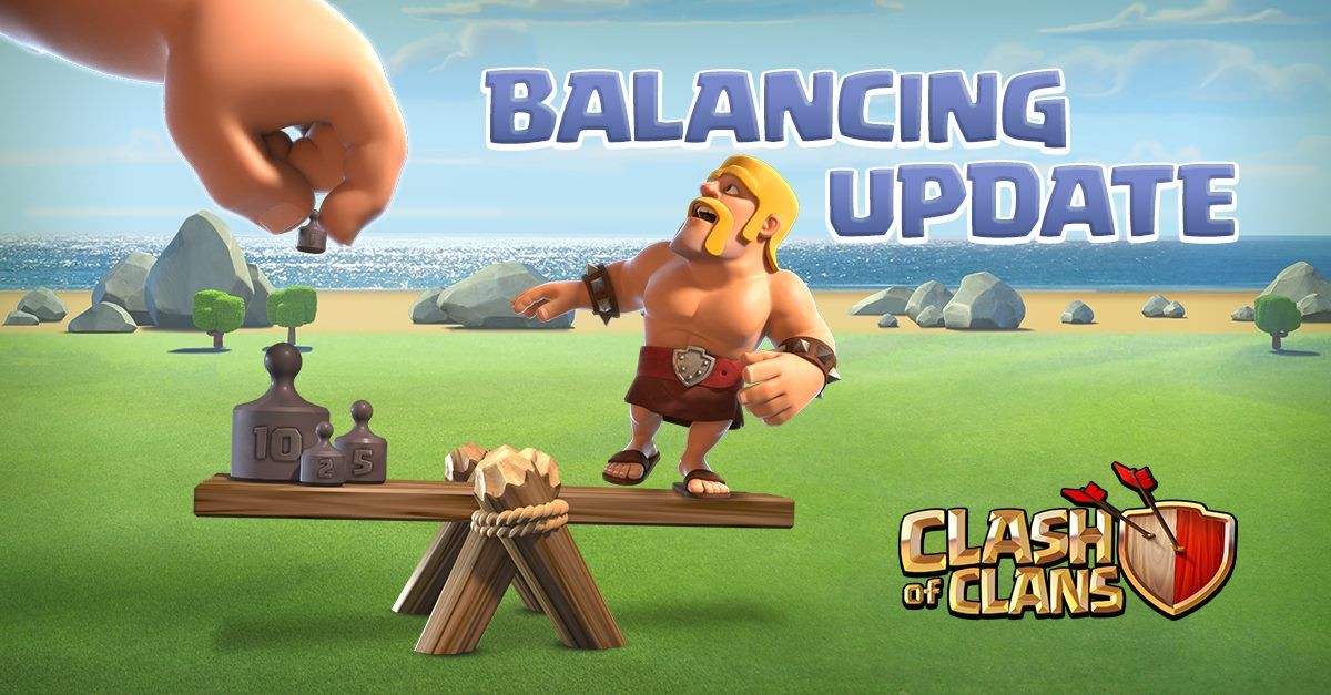 Clash Of Clans Balancing Update