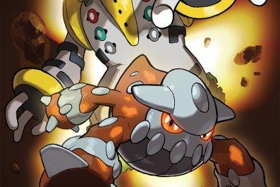 Regigigas and Heatran art pokemon