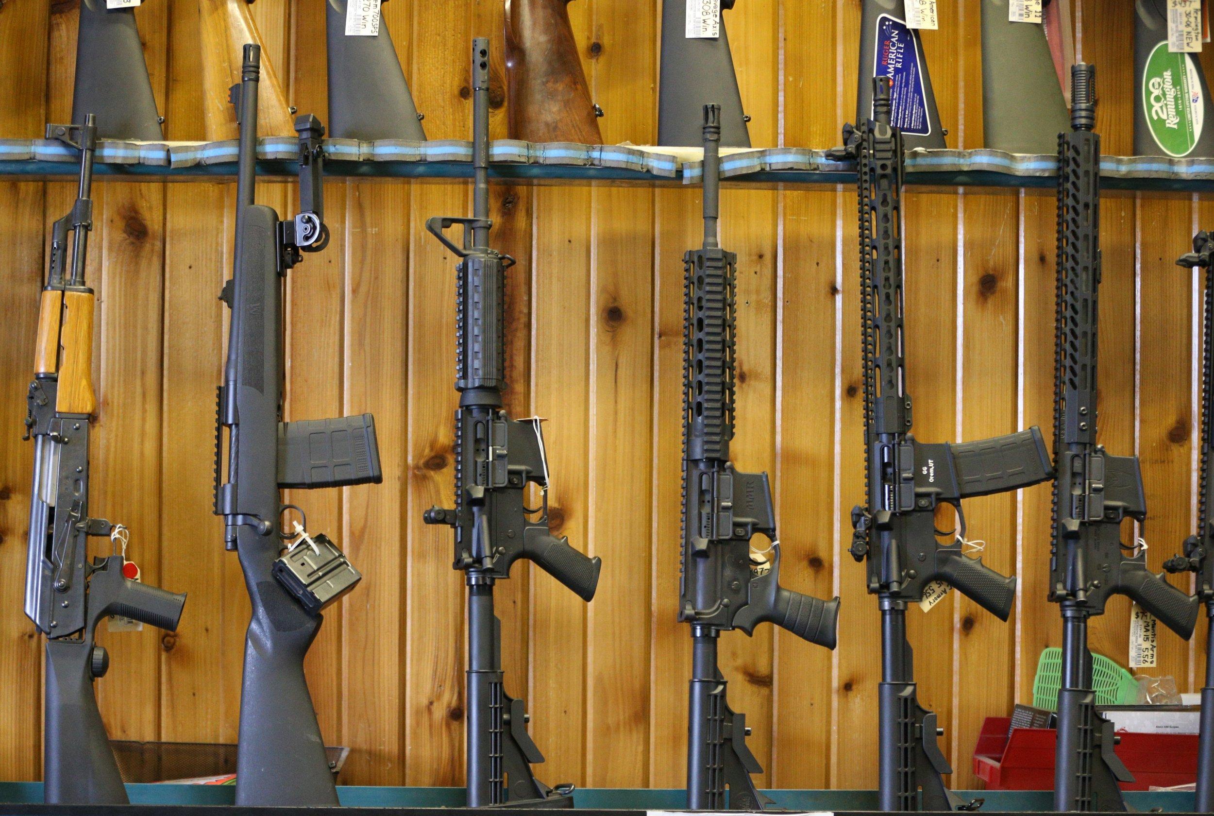 shoot a school kid appears on vandalized gun range