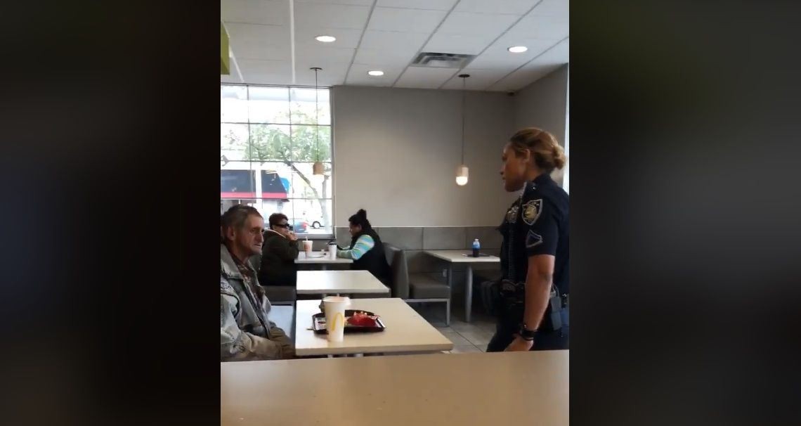 McDonald's homeless man video