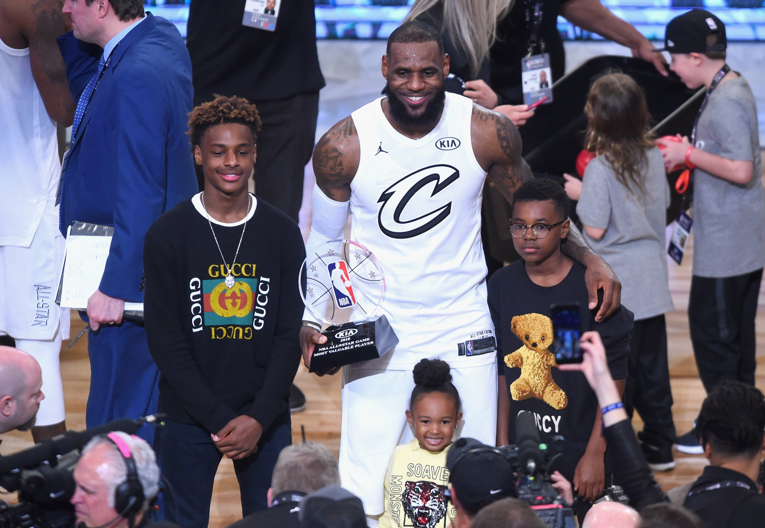 Watch: LeBron James Jr.'s Moves Impress Chris Paul at ...