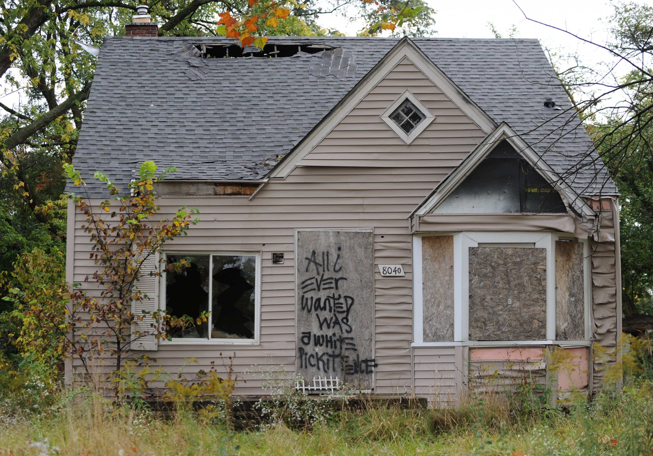 detroit abandoned house recession