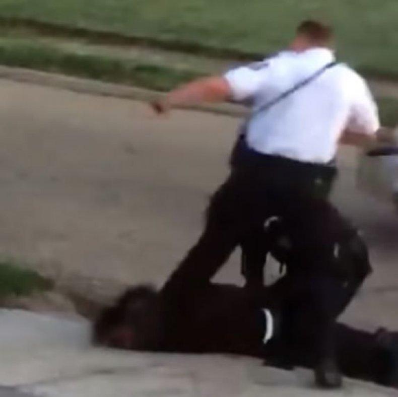 Officer Kicks Suspect