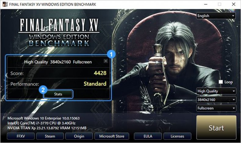 ffxv windows pc benchmark image