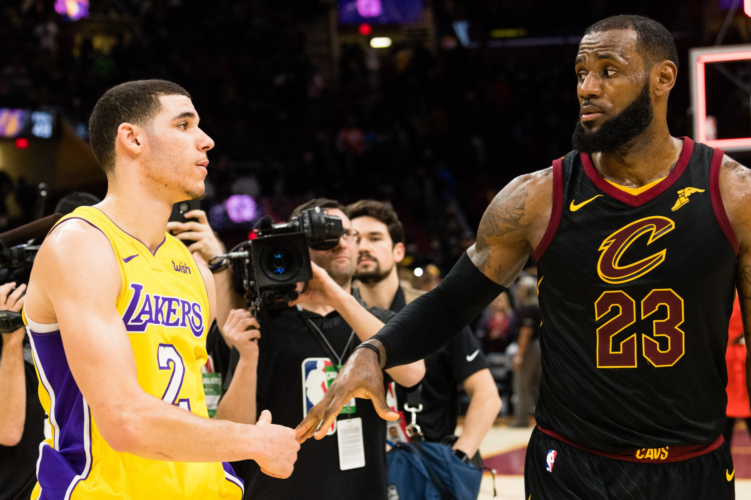 bd61f97a314 LeBron to Lakers  Lonzo s Improving Game Revives Speculation James Could  Head to LA