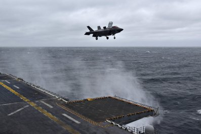 F-35B lands on USS Wasp