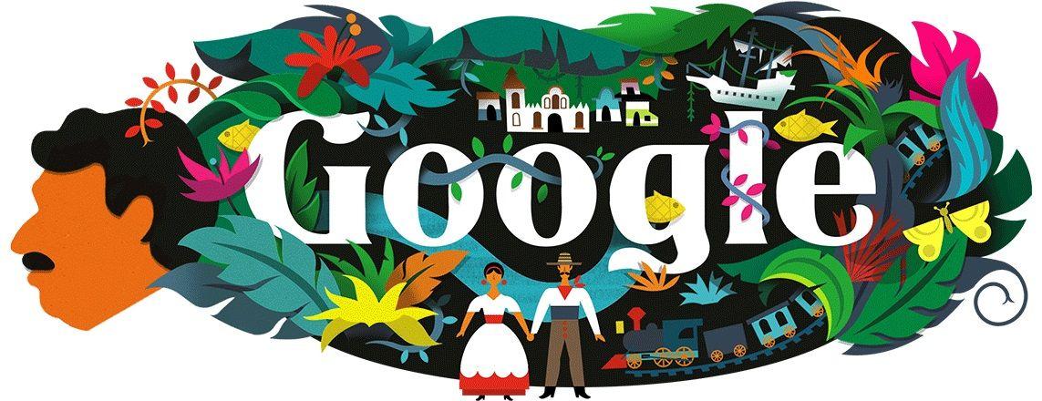 gabrielgarcia marquez google doodle
