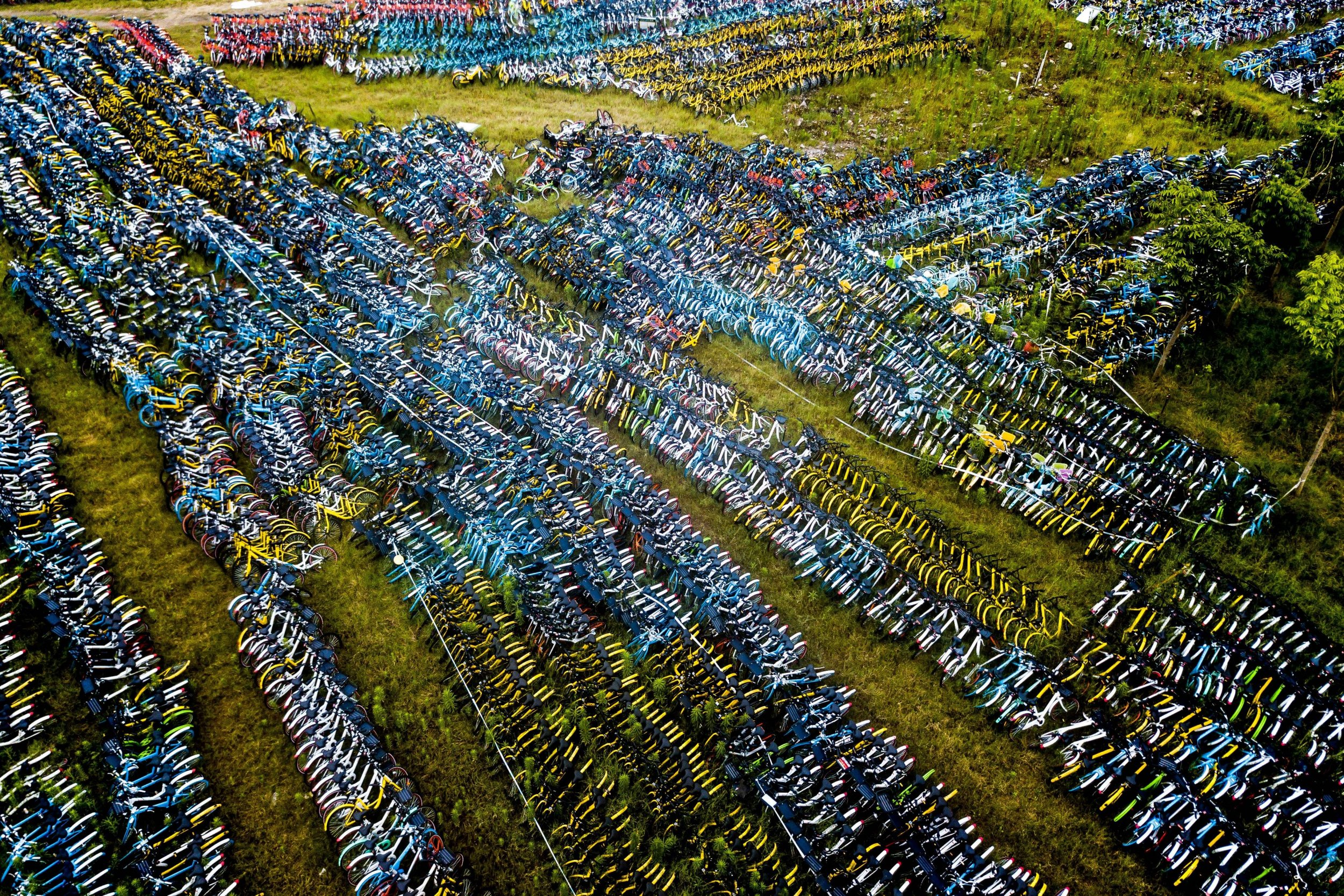 Incredible Pictures Of Chinas Streets Littered With Thousands Of Damaged Rental Bikes