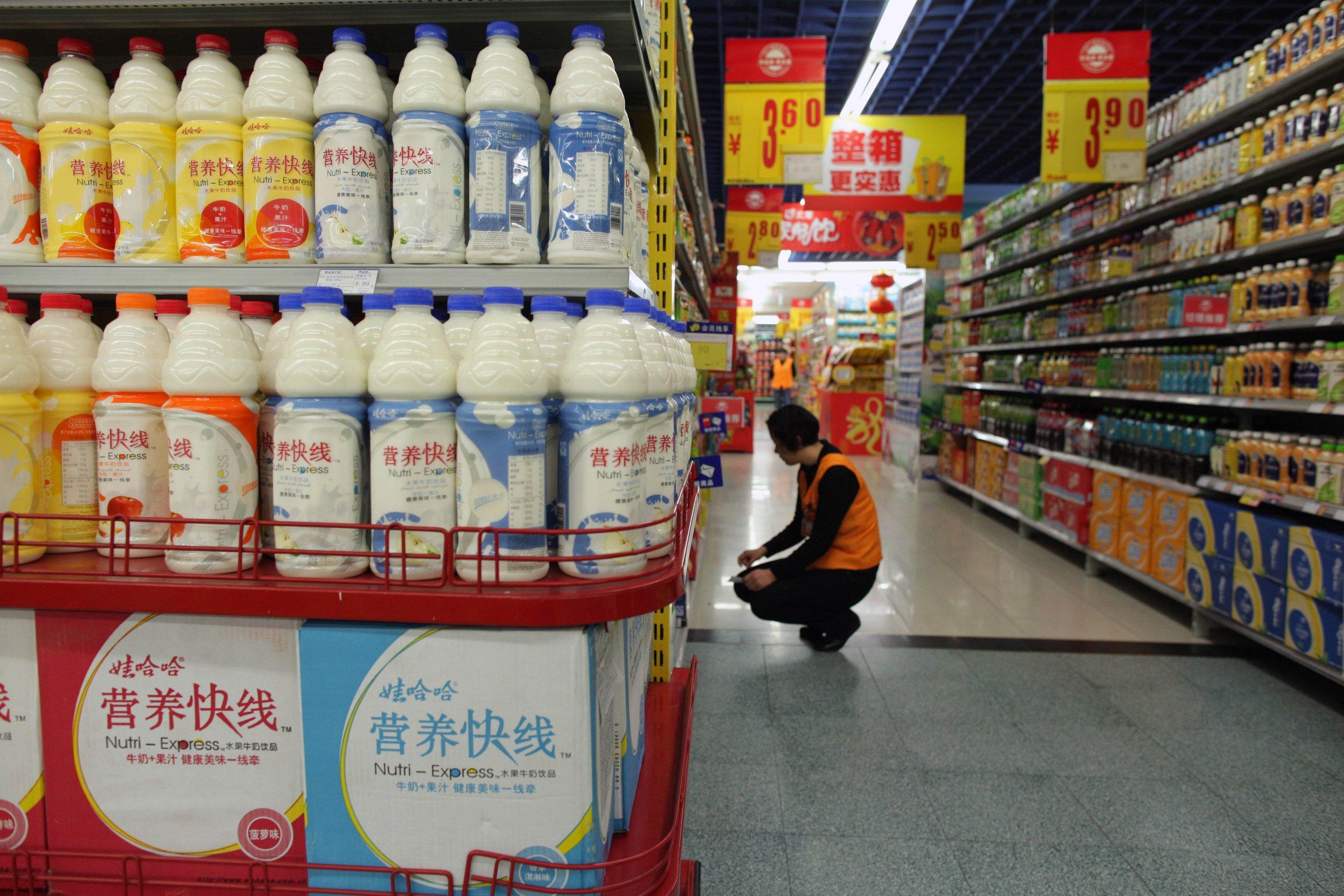 china milk supermarket