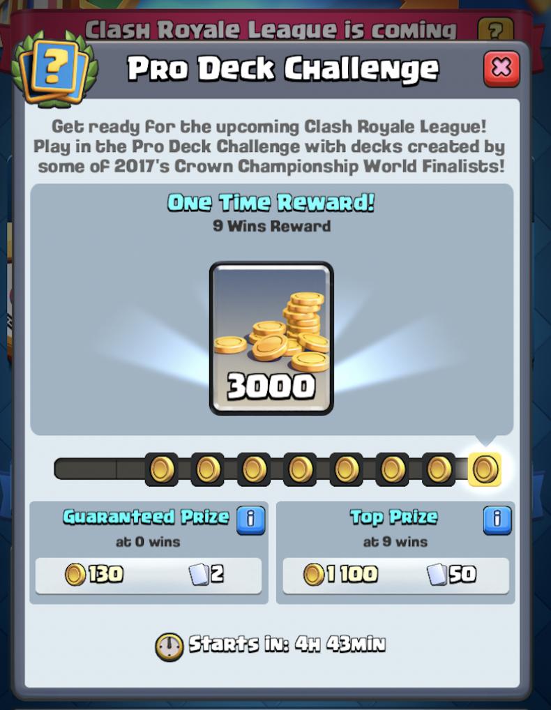 clash, royale, pro, deck, challenge, decks, strategy, tips, rewards, supercell