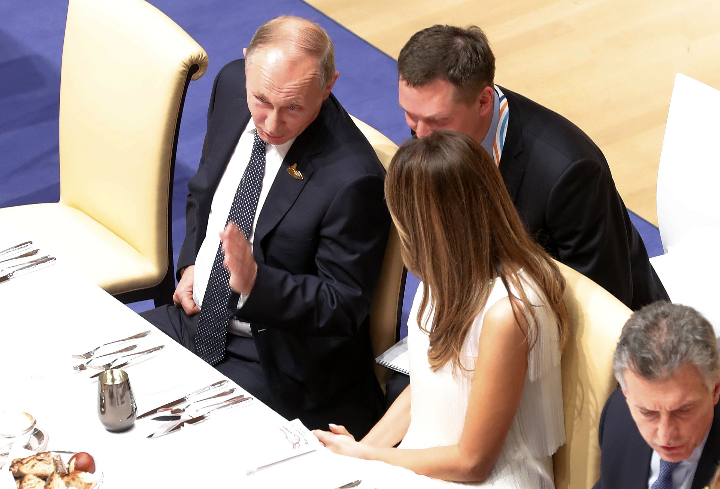 Putin and Melania at G20 summit banquet