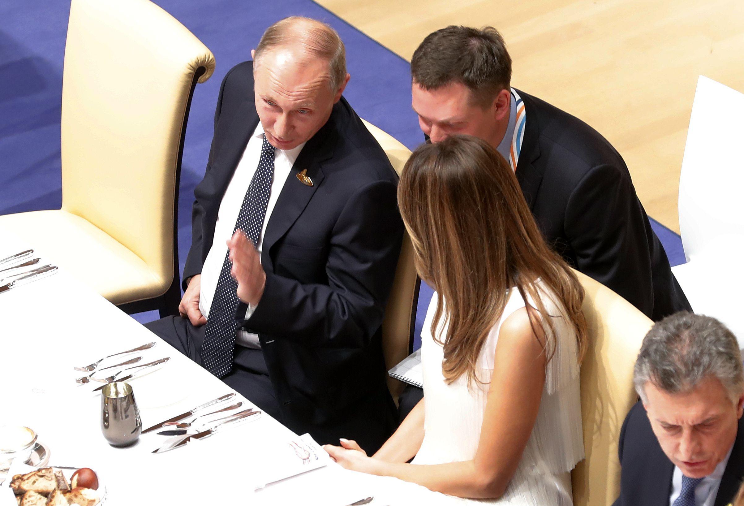 Putin and Melania at G20 summit banquet