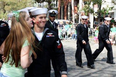 191st_Savannah_St Savannah St. Patrick's Day Parade kiss