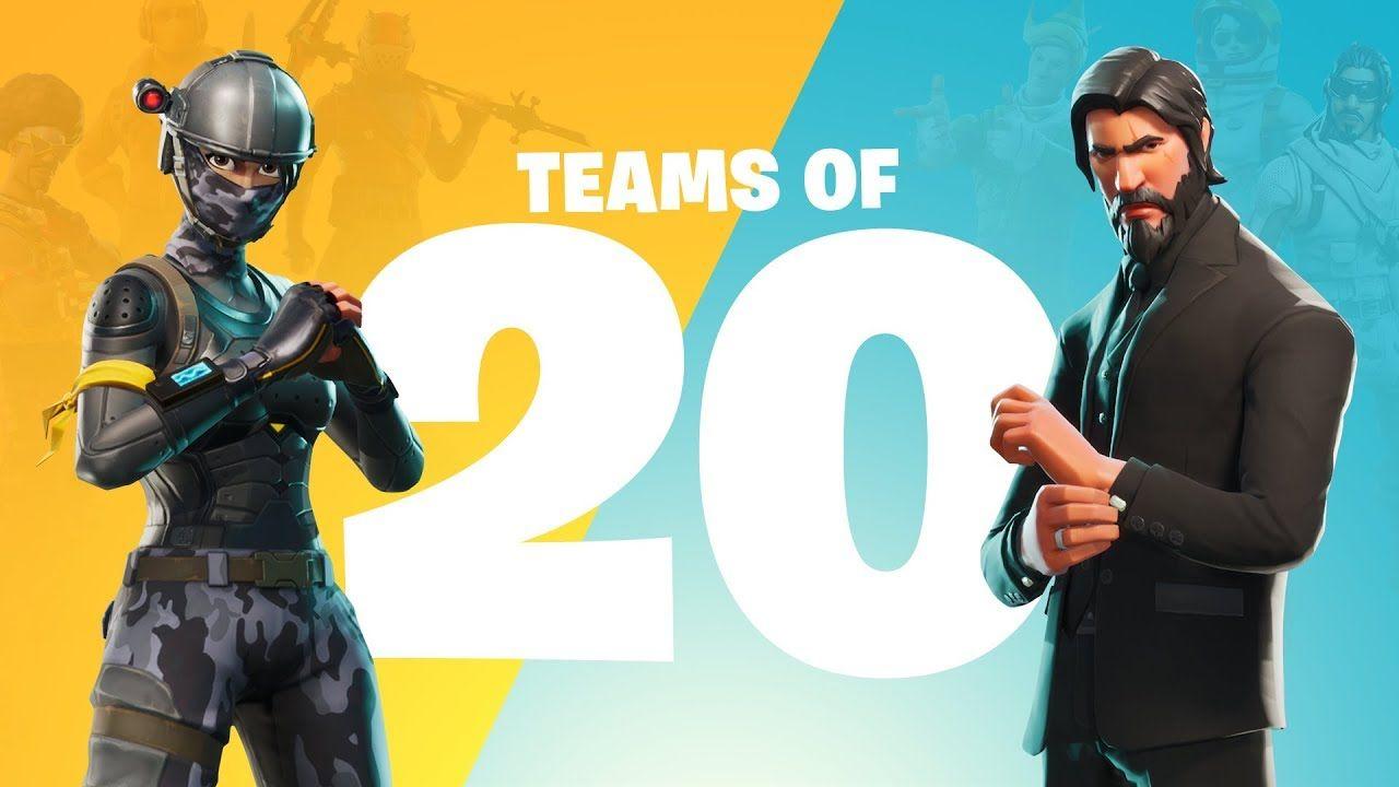 Fortnite Teams Of 20 art