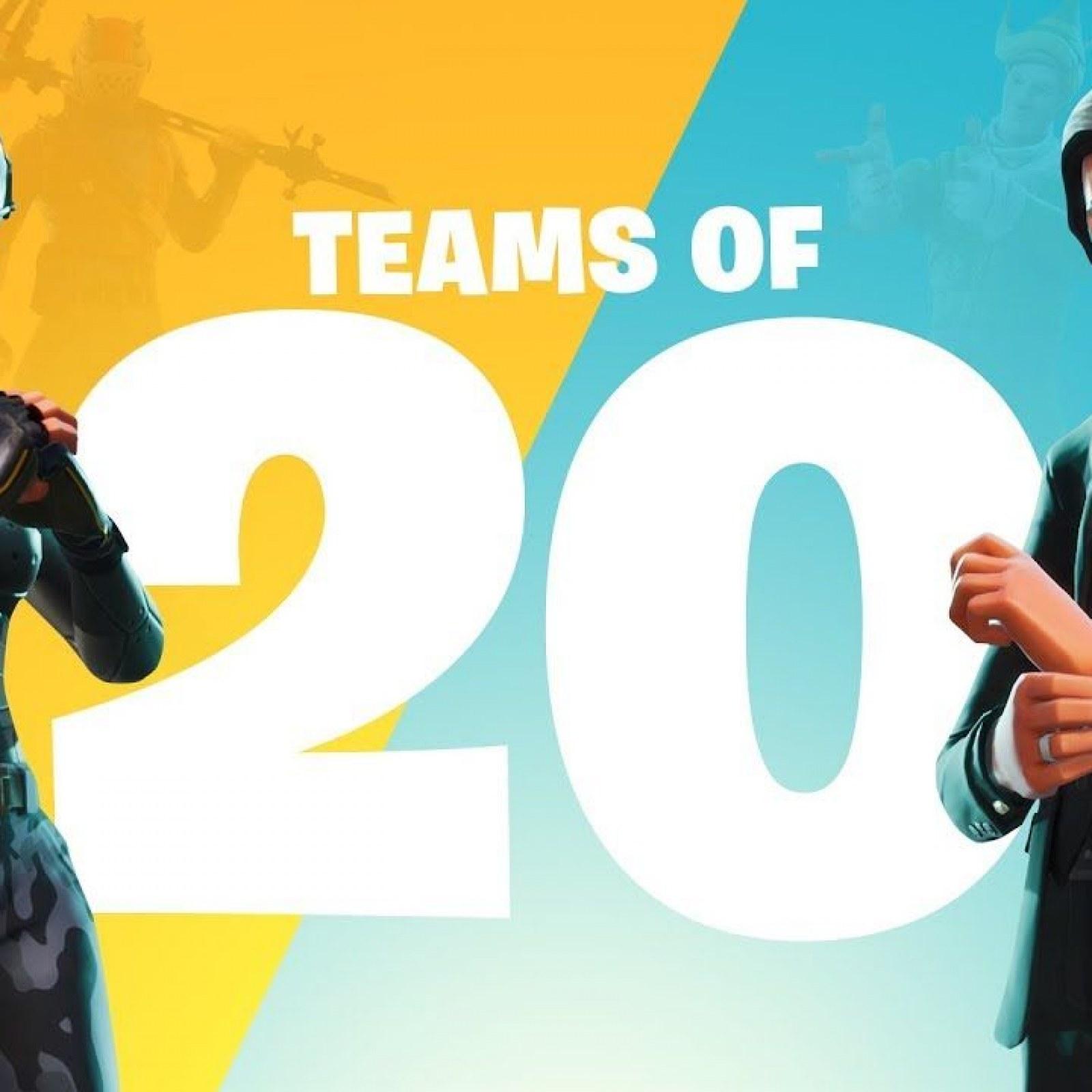 Fortnite' 1 48 (3 2) Update Adds Teams Of 20 & New Skin