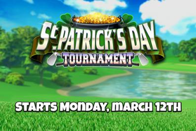 golf clash next tournament start schedule st Patricks day