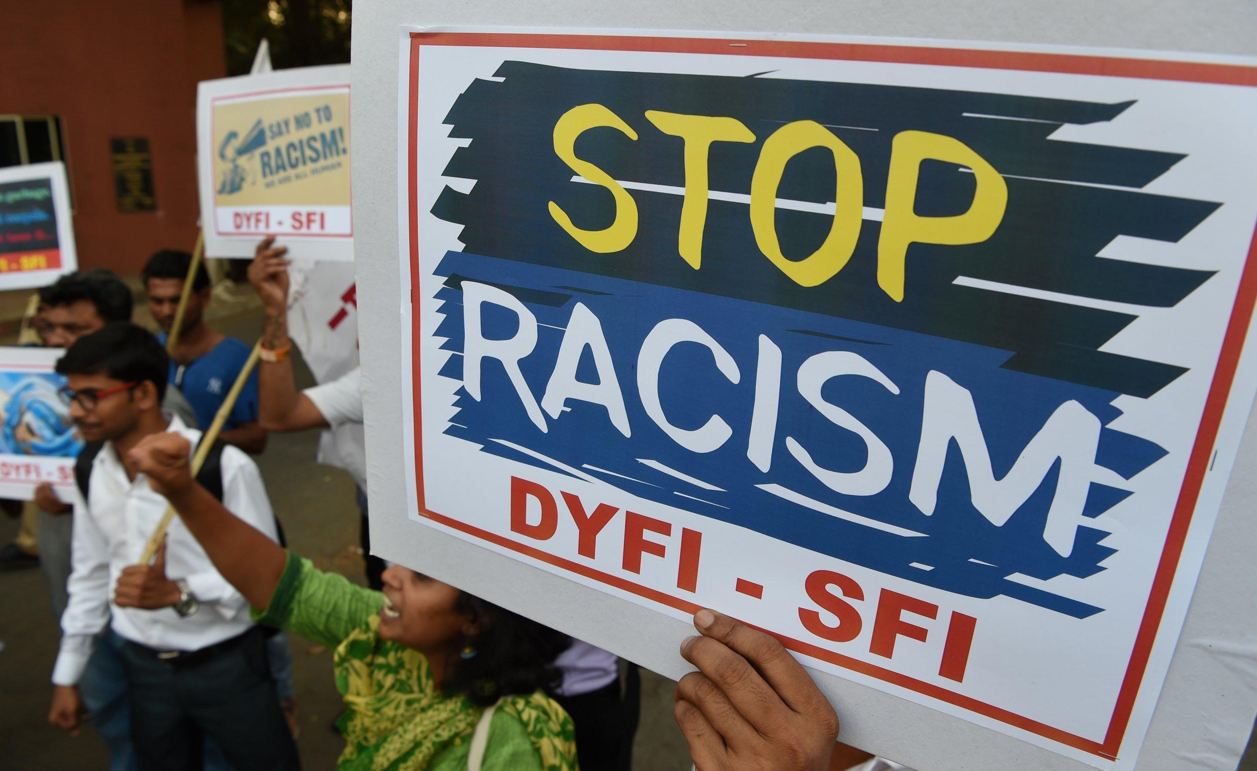 anti racism sign