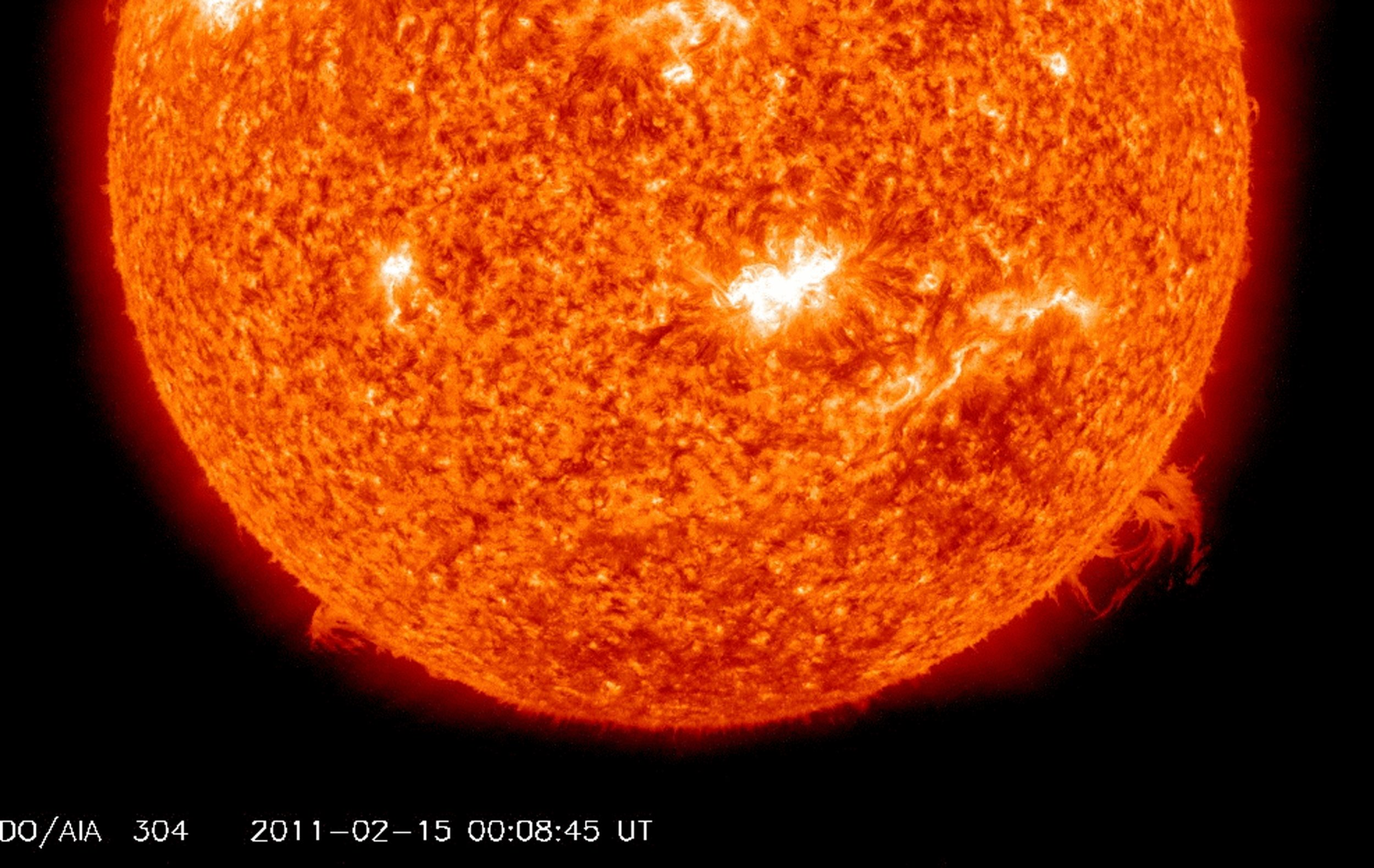 sun flare X class