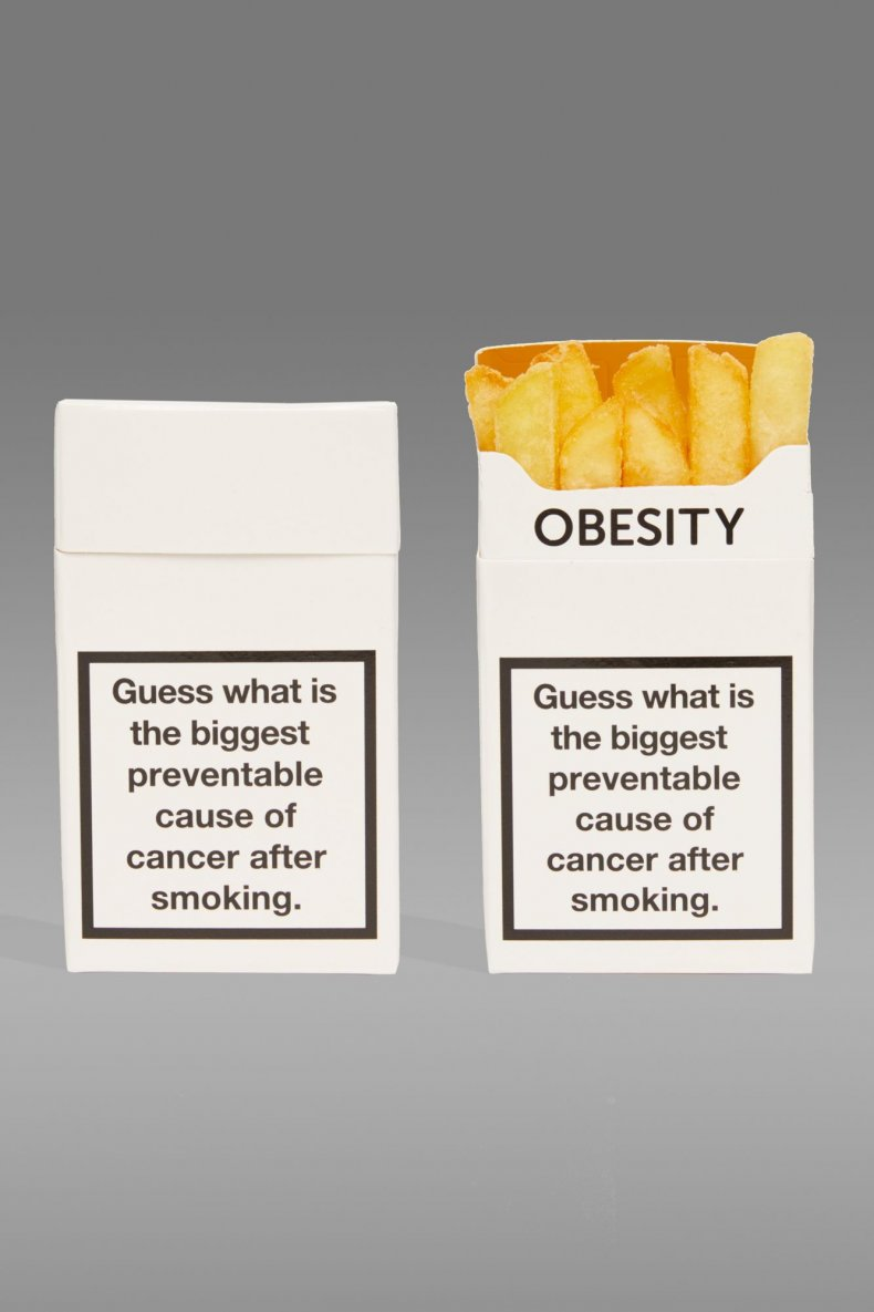 cancer research UK cigarettes fries