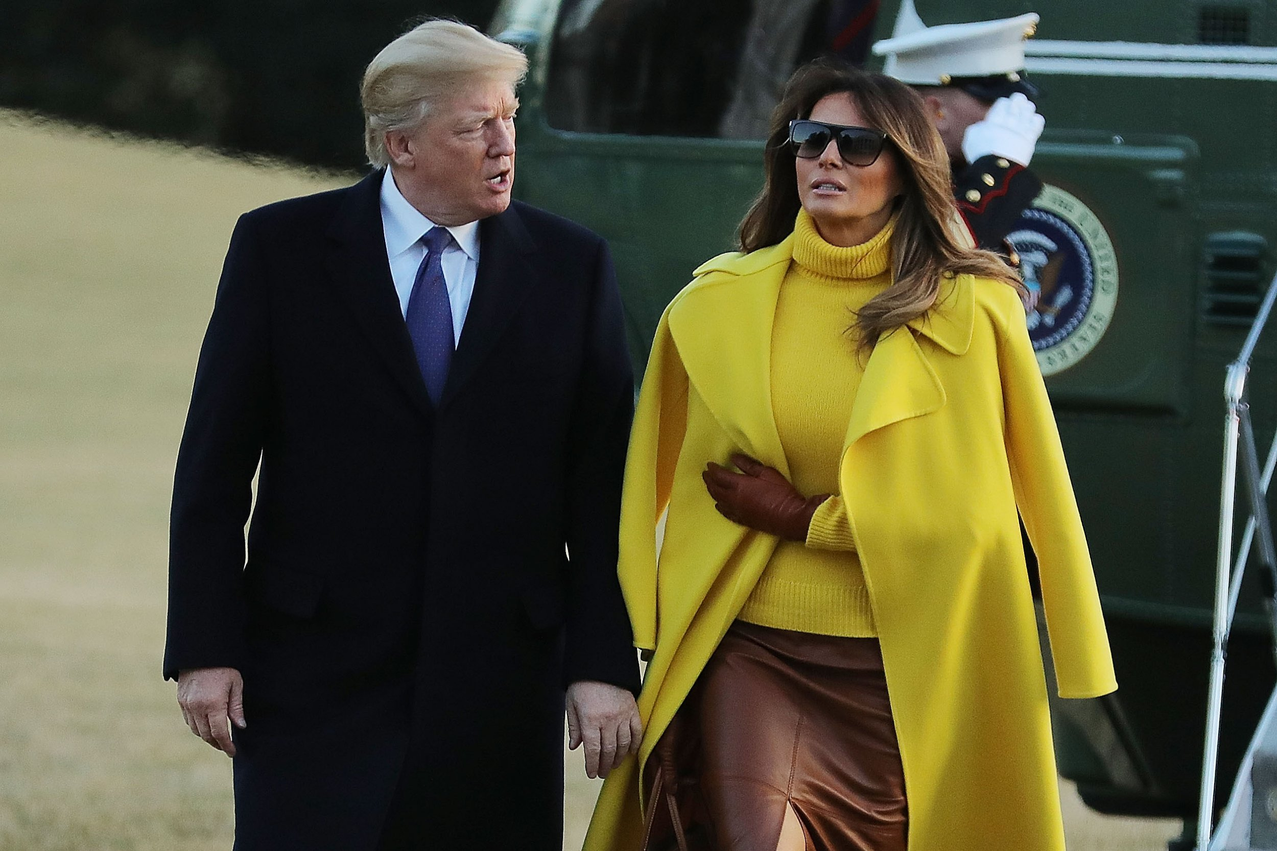 See Photos With 2018 Photos: Did Melania Know About Trump's Alleged Affairs