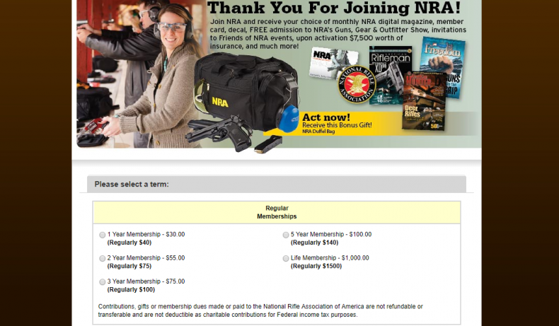 NRA Membership flier
