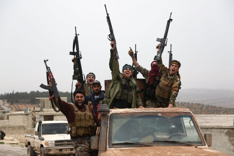 GettyImages-929186228 Pro-Turkish Syrian rebels