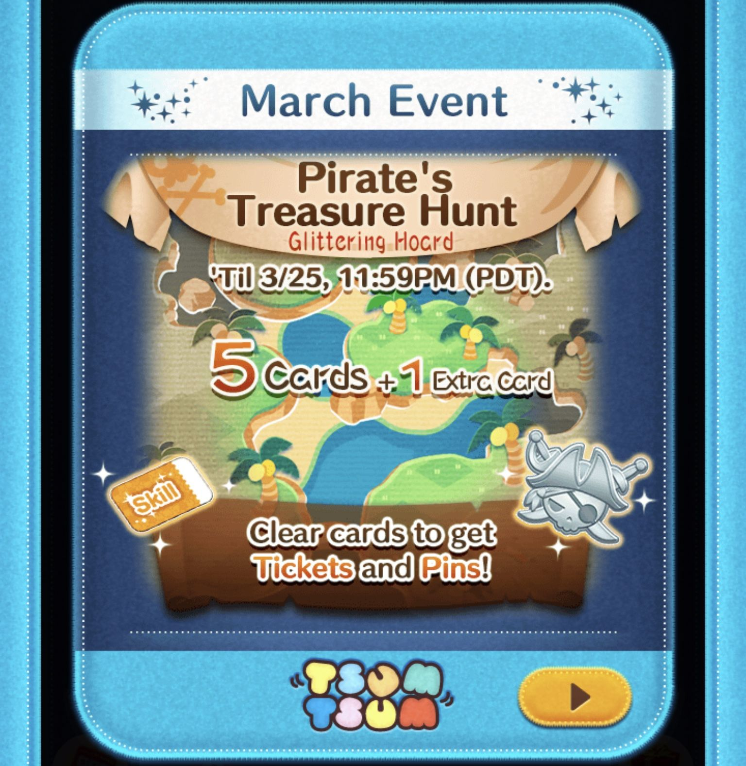 tsum tsum pirate treasure hunt help pointy hair rosy cheeked burst yellow time bubble tips