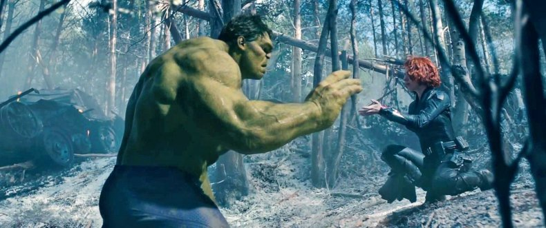 hulk black widow love avengers infinity war