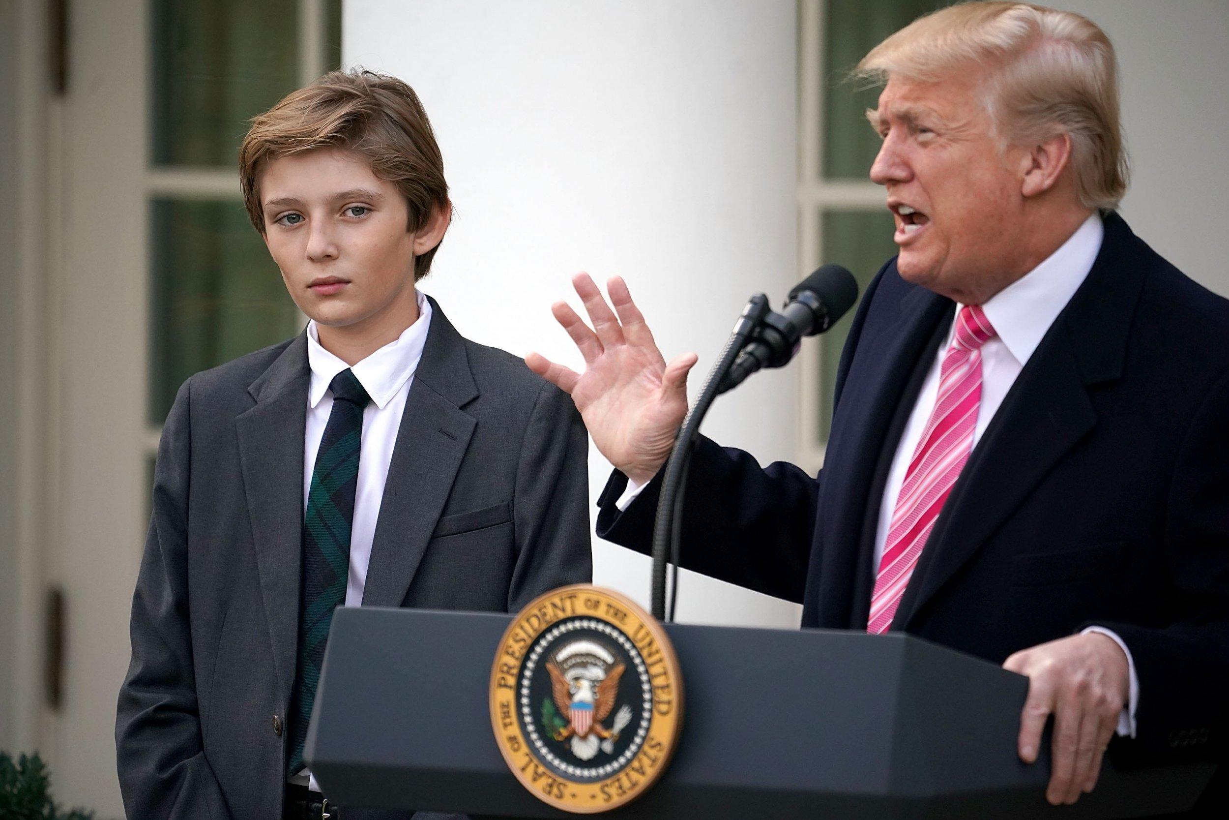 Barron Trump, Donald Trump