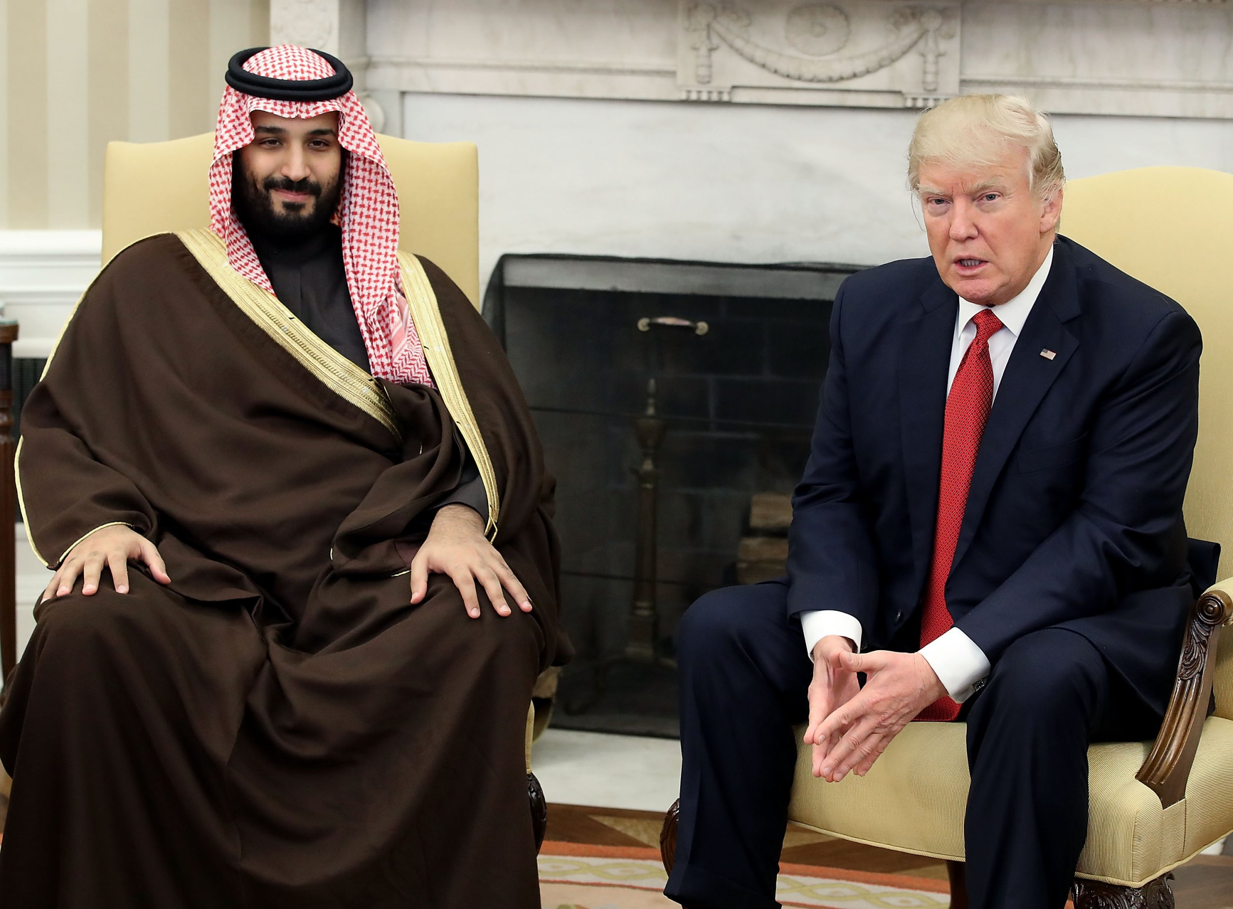GettyImages-653337722 Mohammed bin Salman with Donald Trump