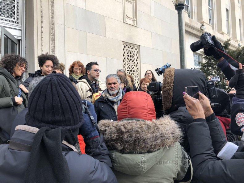 ravi outside of courthouse