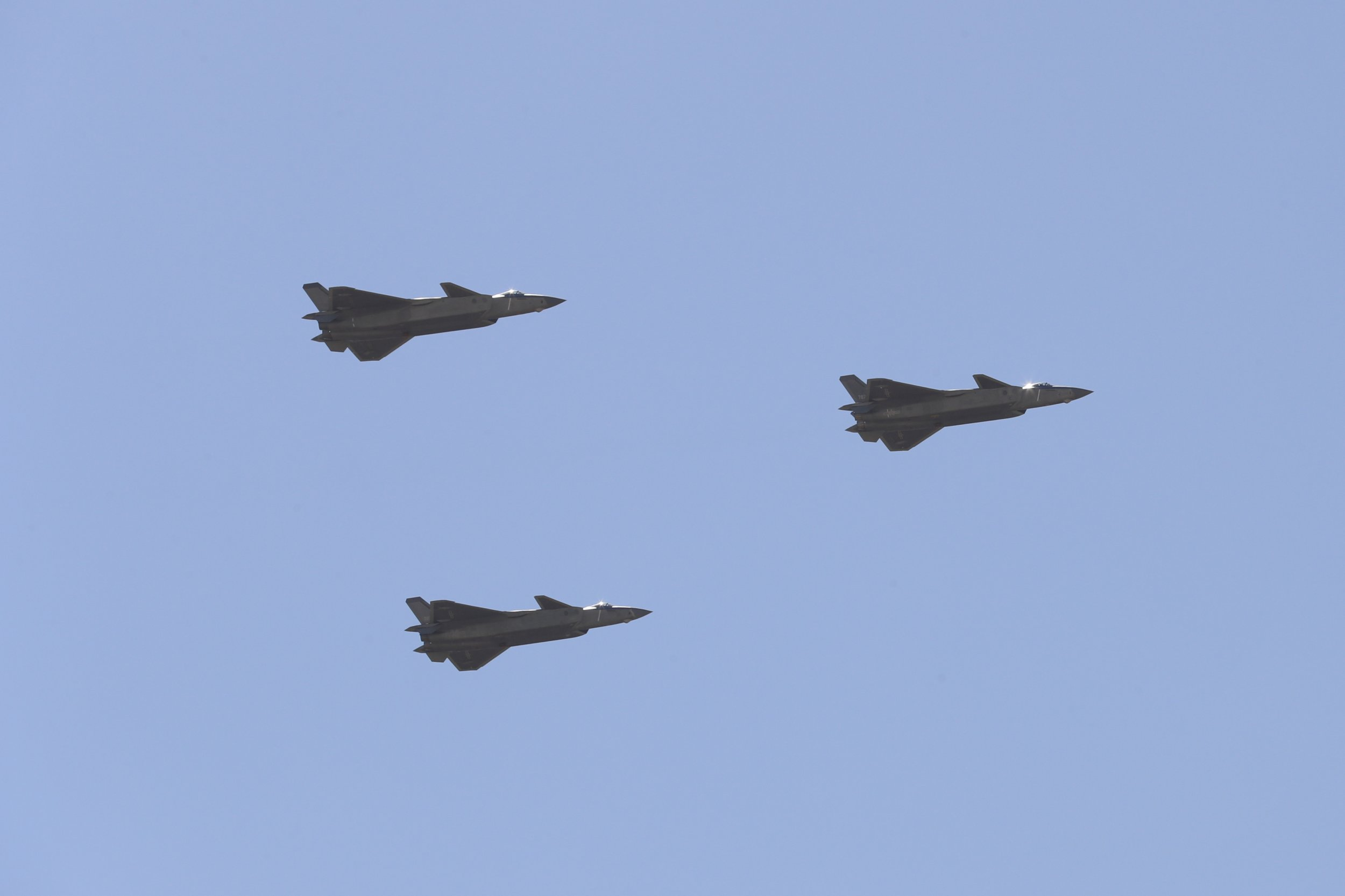 GettyImages-824402154 China J-20 Fighters