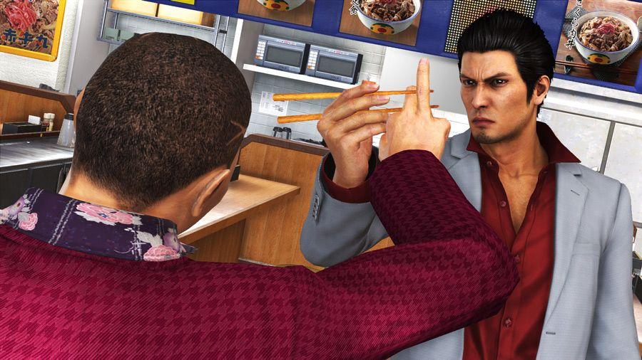 yakuza 6 fighting restaurants