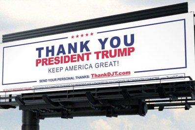 CDP-Trump-billboard thank you