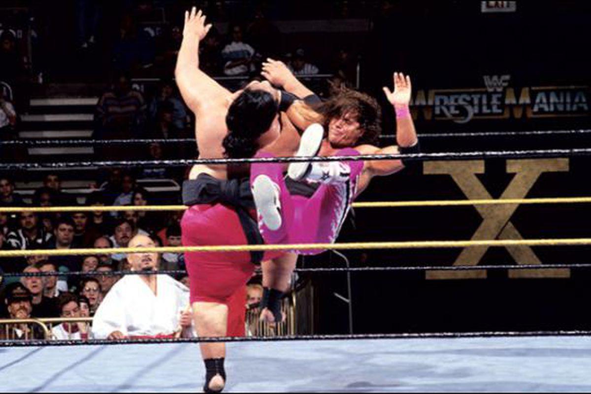 wrestlemania x bret vs yokozuna