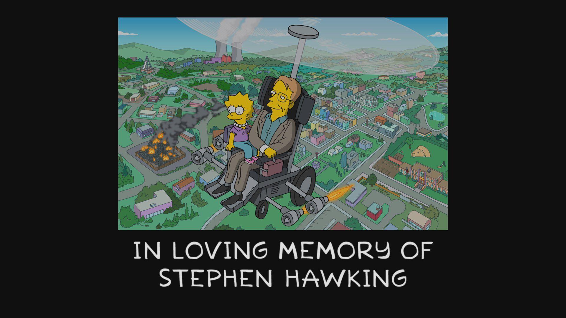 Stephen Hawking tribute on 'The Simpsons'