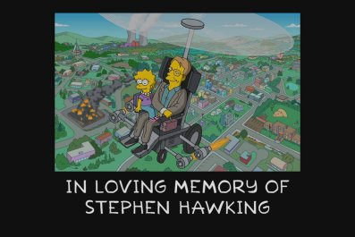 Stephen Hawking tribute on 'The Simpsons'