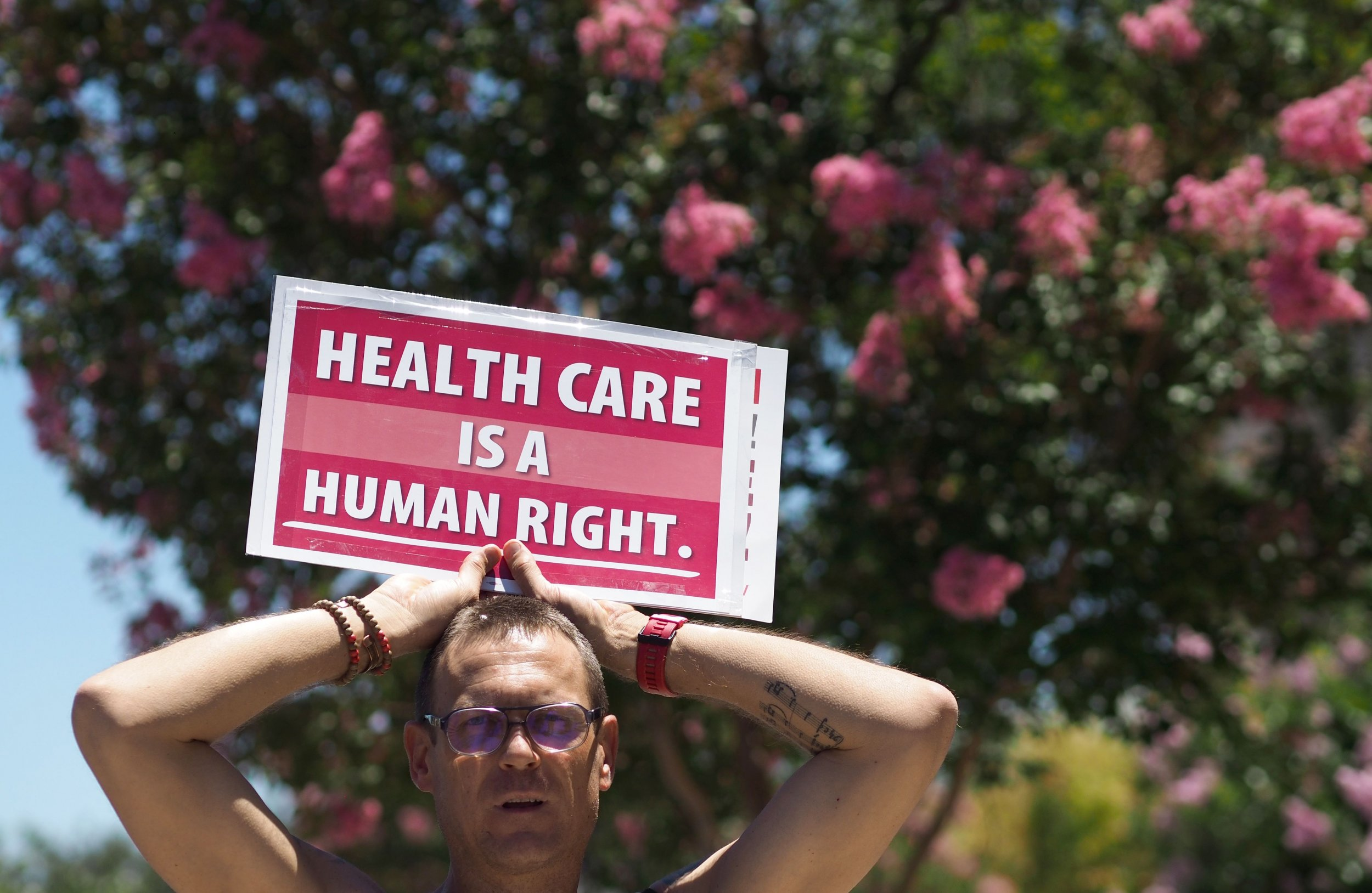 california health care protest