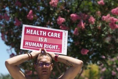 california health care protest