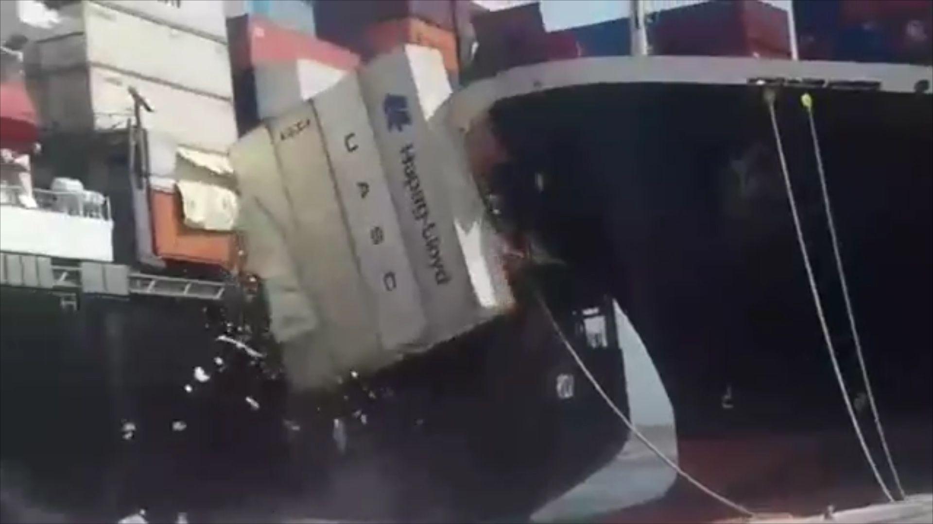 Karachi container ship collision