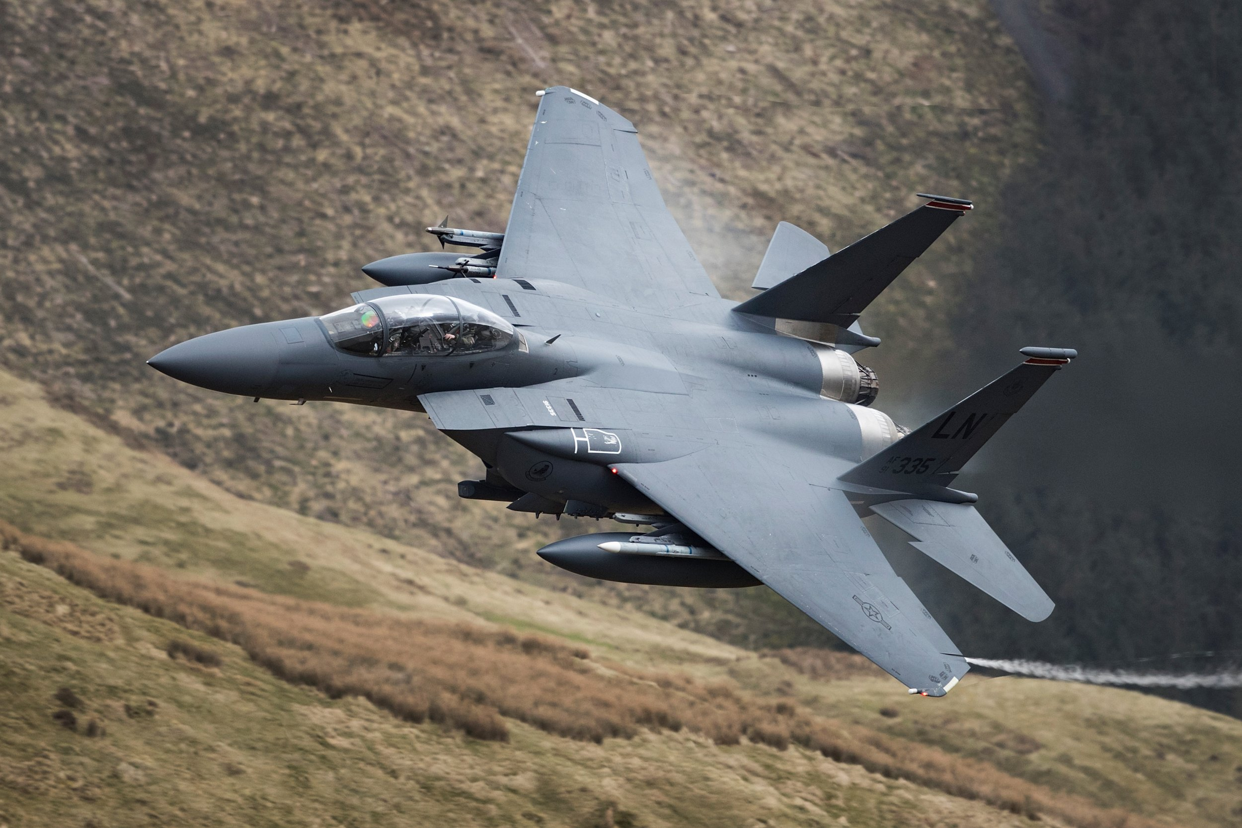 F-15 jet Air Force in Wales