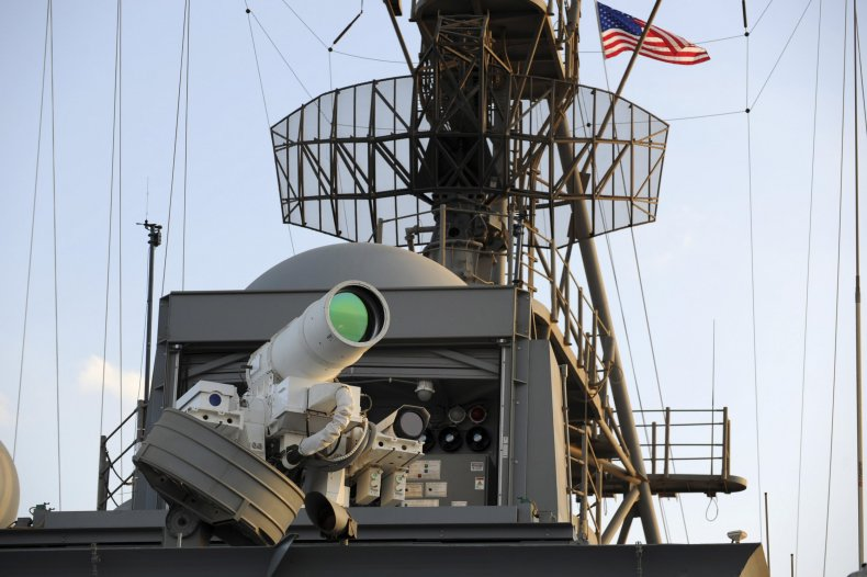 USS Ponce laser weapon test