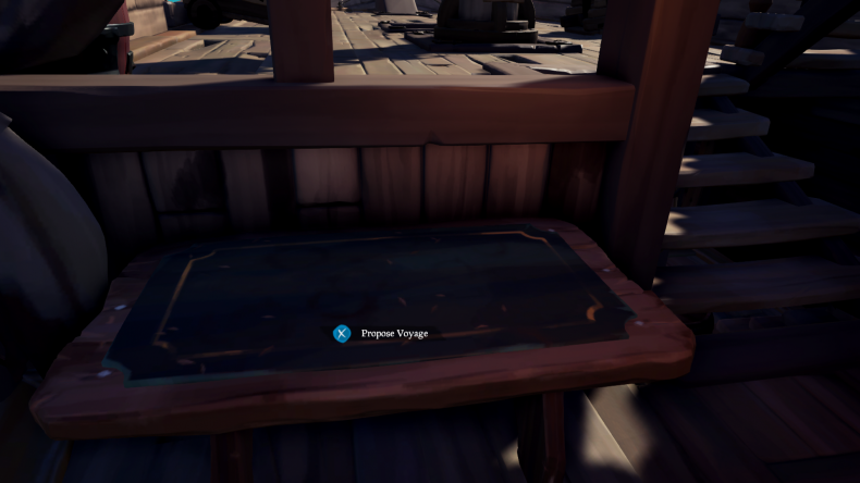 sea, of, thieves, voyage, table guide quests, how, to, start, maps, missions, first, initiation, table, ship