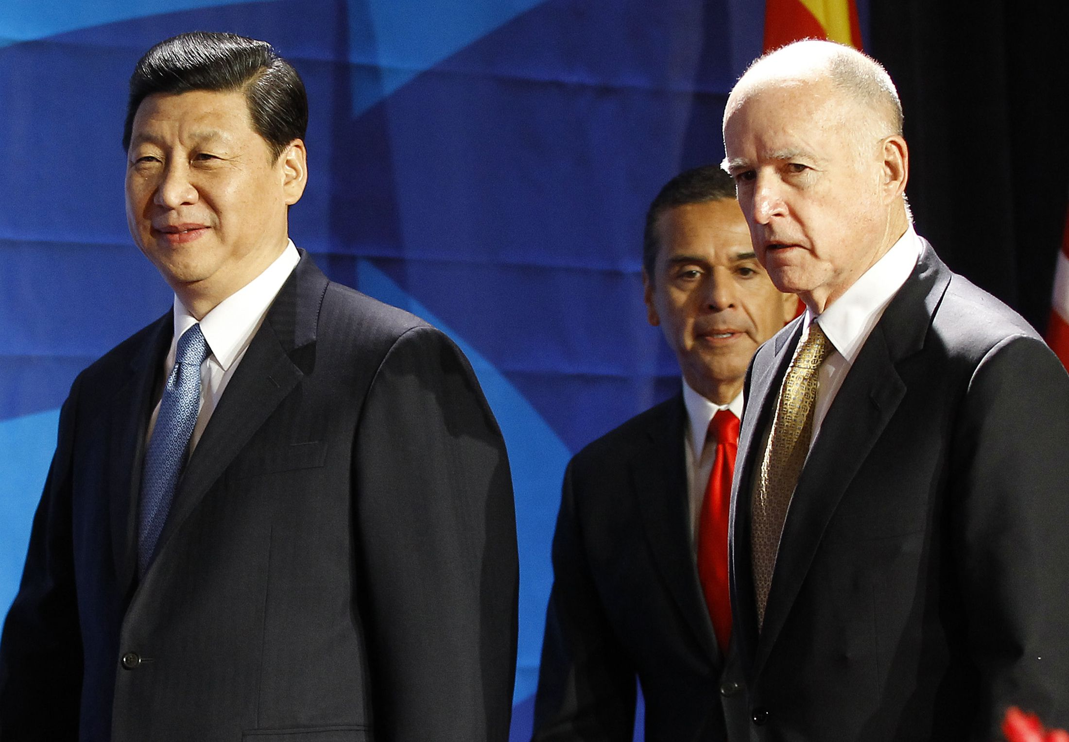 Jerry Brown and Xi Jinping
