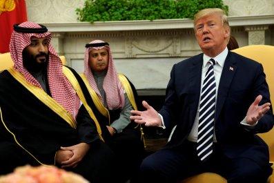 Donald Trump and Mohammed bin Salman