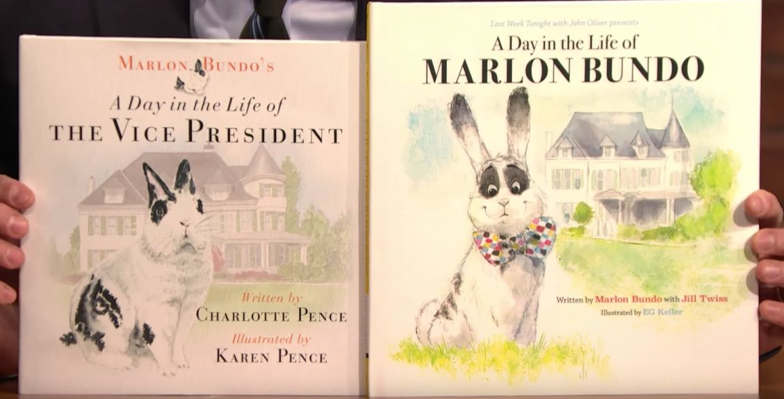 John Oliver's Marlon Bundo book and the Pences' book